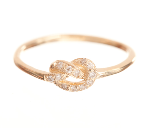 How sweet is this Ariel Gordon pavé love knot ring ($485)? It's a daily, on-your-finger reminder of the one you hold closest to your heart, without the cheesiness factored in.