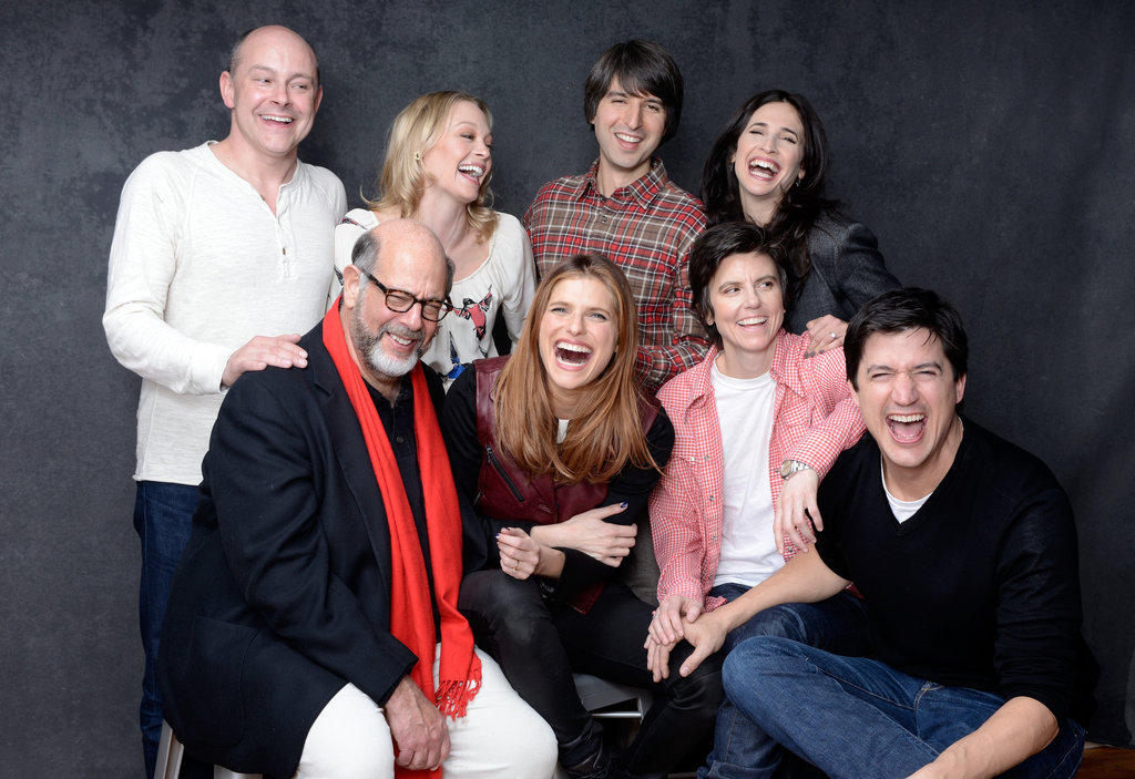 Rob Corddry, Alexandra Holden, Demetri Martin, Michaela Watkins, Fred Melamed, director Lake Bell, Tig Notaro, and Ken Marino couldn't keep in the laughs while promoting In a World . . .  at Sundance.