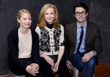 Stoker stars Mia Wasikowska, Nicole Kidman, and Matthew Goode sat close to one another inside the portrait studio.