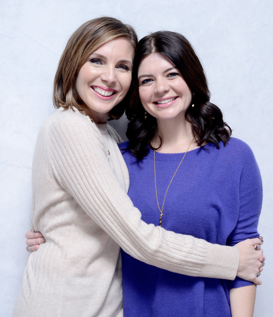 June Diane Raphael and Casey Wilson hugged it out to promote Ass Backwards.