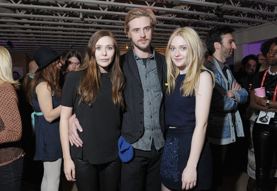 Elizabeth Olsen, Boyd Holbrook, and Dakota Fanning smiled at the Very Good Girls premiere party in Park City.