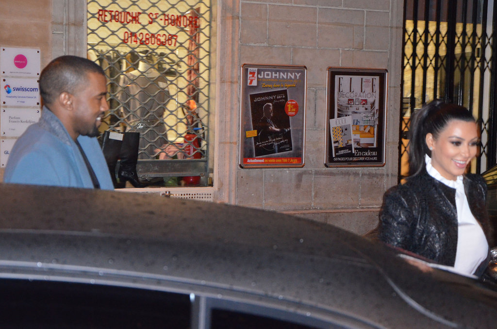 Kim Kardashian and Kanye West Step Out For a Stylish Paris Date Night