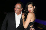 Adriana Lima posed with Jean Reno at IWC's race night in Switzerland.