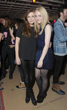A leather-clad Elizabeth Olsen joined Dakota Fanning for Very Good Girls's post-film festivities.