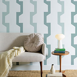 Paint your own wallpaper with these geometric patterns. Source: Sunset Magazine