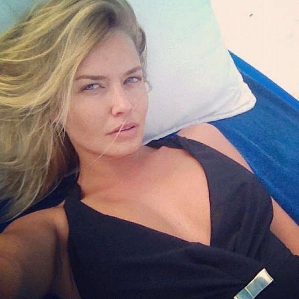 Lara Bingle lounged around in a Zimmermann one-piece in Mexico. Source: Instagram user mslbingle