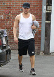 Ryan Phillippe showed off his fit physique leaving the gym in LA.