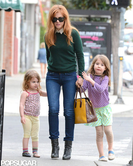 Isla Fisher Takes Her Little Ones Out For a Girls' Lunch