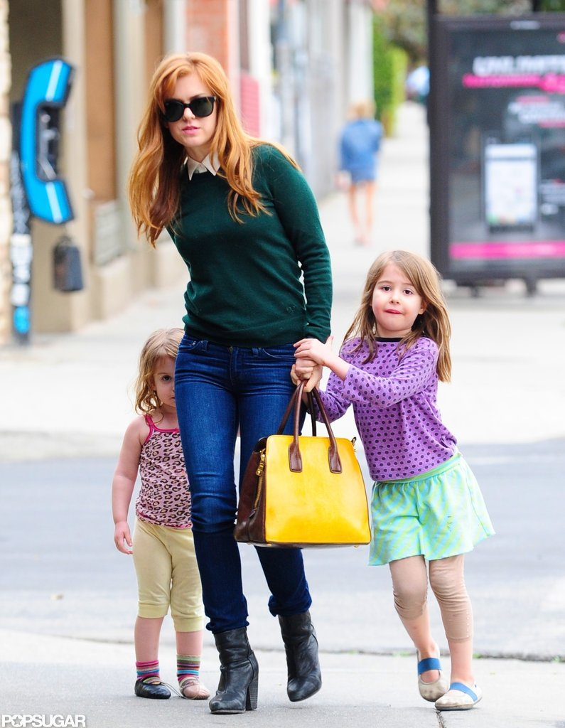 Isla Fisher went to lunch with her daughters, Olive and Elula.