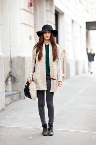 Simplified silhouettes get a boho-twist with a floppy hat. Source: Adam Katz Sinding