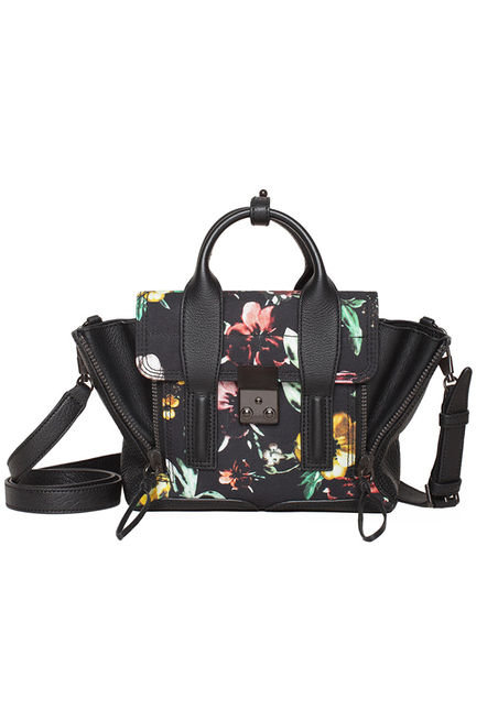 We've been addicted to Phillip Lim's Pashli, and now, there's even more reason to love the style, thanks to this mini floral rendition ($625).