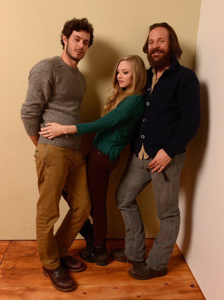 Lovelace's Amanda Seyfried was caught in the middle of costars Adam Brody and Peter Sarsgaard.