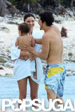 Miranda Kerr and Orlando Bloom took a vacation to Mexico with Flynn.