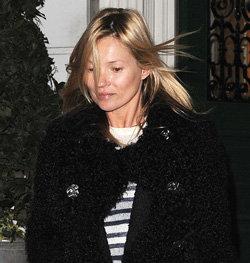 Kate Moss Without Makeup in London | Pictures