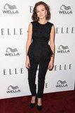 Allison Miller wore a black peplum top.