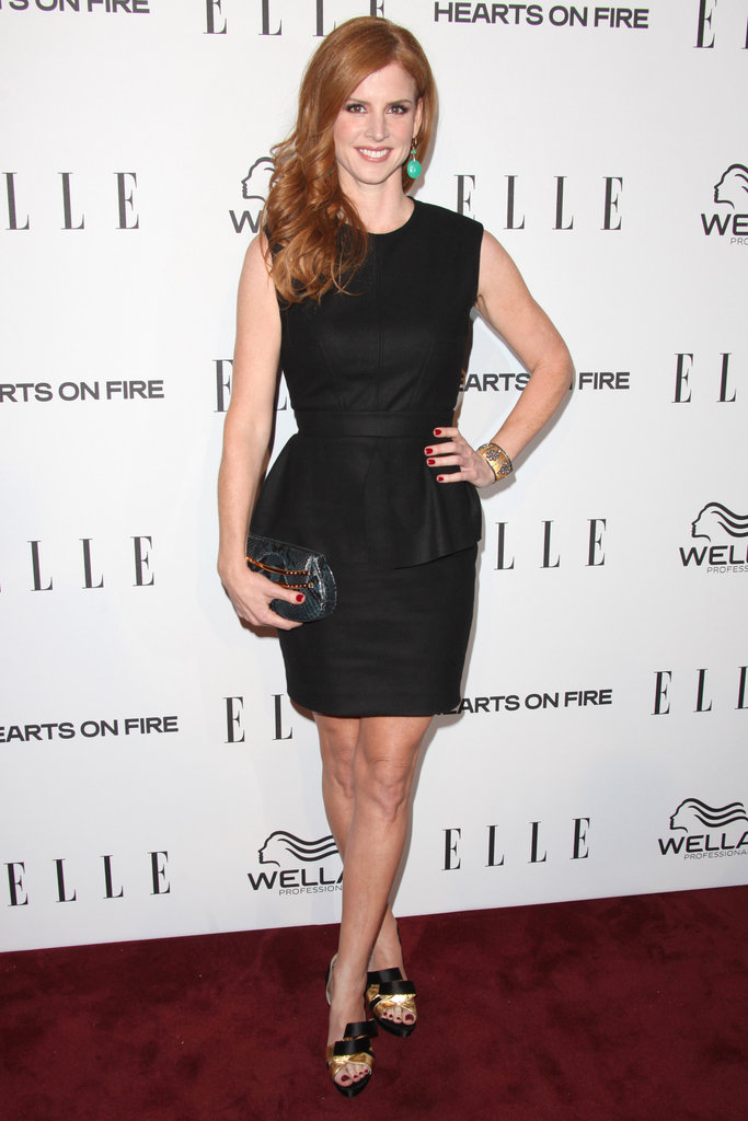 Suits star Sarah Rafferty posed on the red carpet.