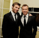 Aussie actors Liam McIntyre and Todd Lasance attended the premiere of Spartacus: War of the Damned at the Chateau Marmont on Jan. 22.
