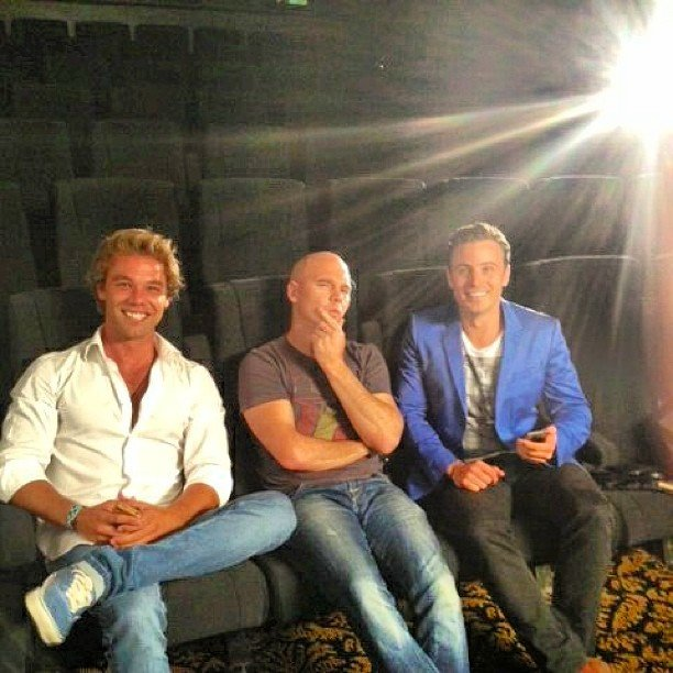 Lincoln Lewis filmed a new segment for Event Cinemas with James Tobin. Source: Instagram user linc_lewis