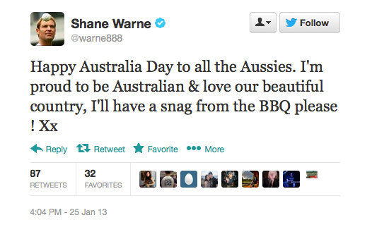 Happy Australia day to you too, Shane!