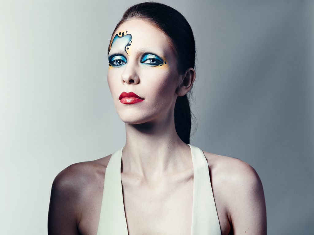 The rounded shapes in this look by Daniel K. were inspired by the beetle — yes, the colorful insect.
