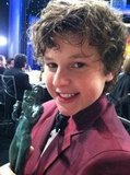 Nolan Gould held onto his award with a tight grip. Source: Twitter user Nolan_Gould