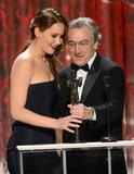 Jennifer Lawrence and Robert De Niro