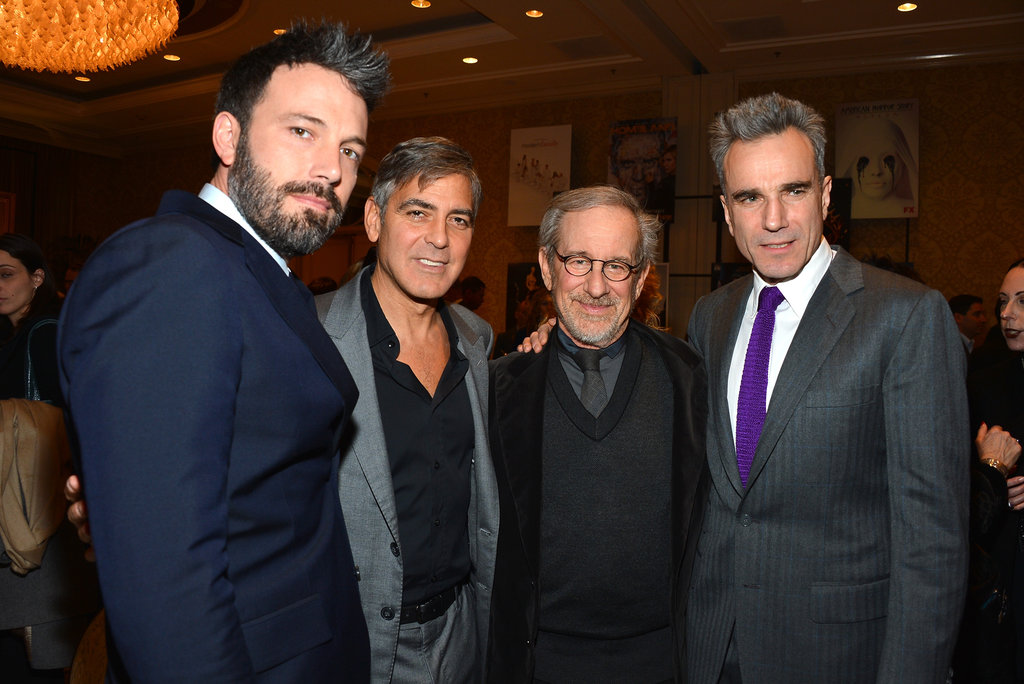 Ben Affleck was in handsome company at the AFI Awards, where he posed with George Clooney, Steven Spielberg, and Daniel Day-Lewis.