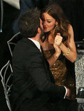 Ben Affleck leaned in to give his wife Jennifer Garner a kiss.