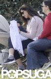 Camila Alves doted on baby Livingston McConaughey.