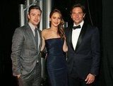 Jennifer Lawrence was sandwiched between Justin Timberlake and Bradley Cooper backstage at the SAG Awards.