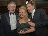 Robert de Niro and his Silver Linings Playbook costar Jacki Weaver posed with director David O. Russell.