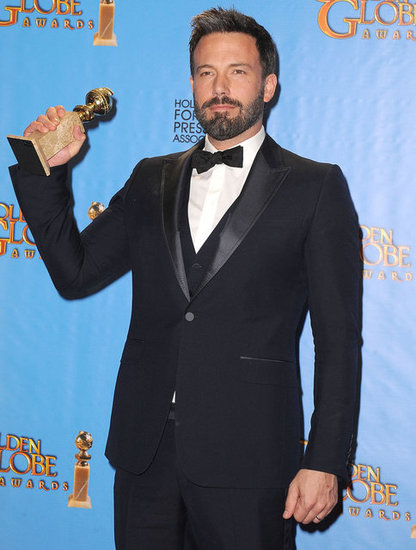 Ben Affleck proudly showed off his Golden Globe statue.