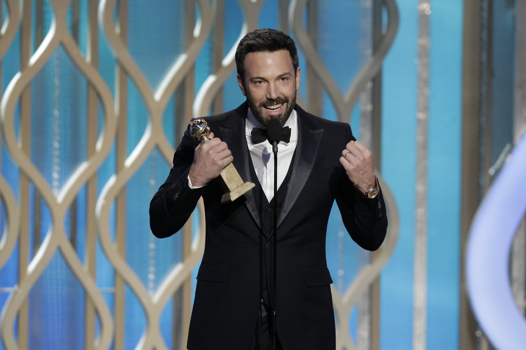 Ben Affleck took the stage to accept his Golden Globe Award for best director.