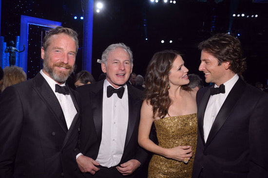 Victor Garber and Rainer Andreesen watched as Jennifer Garner chatted with Bradley Cooper at January's SAG Awards.
