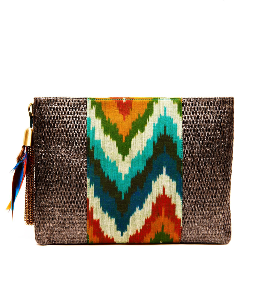 This rattan clutch from 500 B.C. ($100) can easily take you straight from the runways to the afterparties.