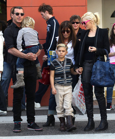 Gwen Stefani and Gavin Rossdale shopped in LA with their sons, Zuma Rossdale and Kingston Rossdale.