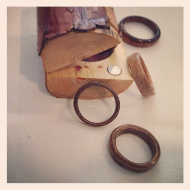 Swap Metal For Wood Wedding Bands