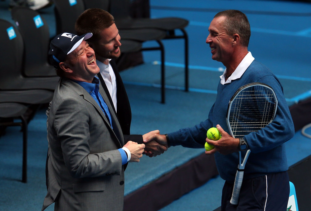 Kevin Spacey and Ivan Lendl