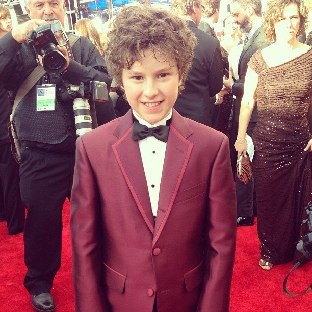 Modern Family star Nolan Gould looked spiffy on the red carpet. Source: Instagram user sagawards