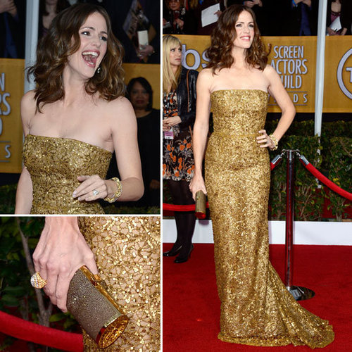 Jennifer Garner in Gold Oscar de la Renta 2013 SAG Awards