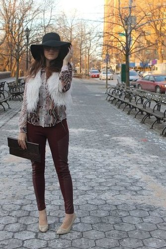 Snakeskin, Faux Fur & Oxblood