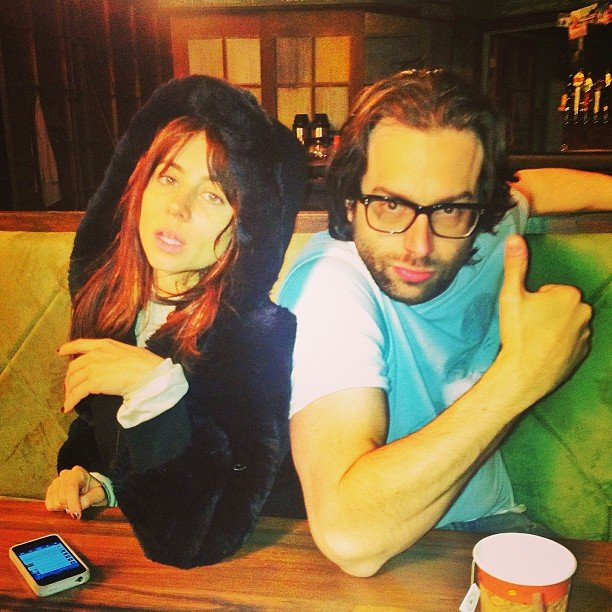 Natasha Leggero and Chris D'Elia struck a pose. Source: Instagram user chrisdelia
