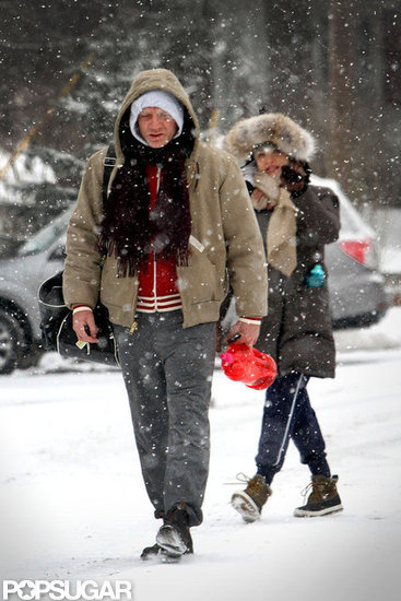 Daniel and Rachel Bundle Up to Battle an NYC Snowstorm