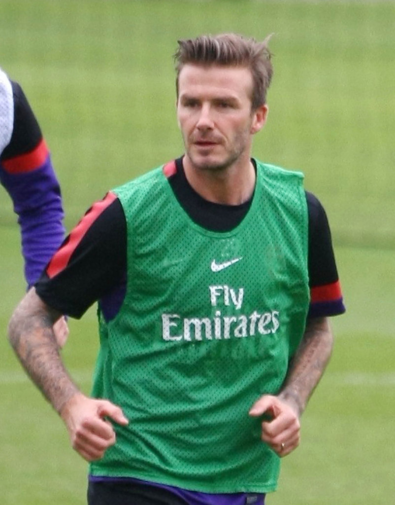 David Beckham played with the Arsenal Football Club.