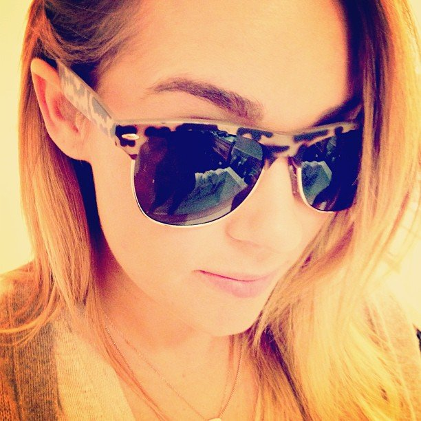 Lauren Conrad showed off her new LC Lauren Conrad shades.  Source: Instagram user laurenconrad