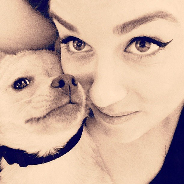 LC snuggled with Fitz for a selfie. Source: Instagram user laurenconrad