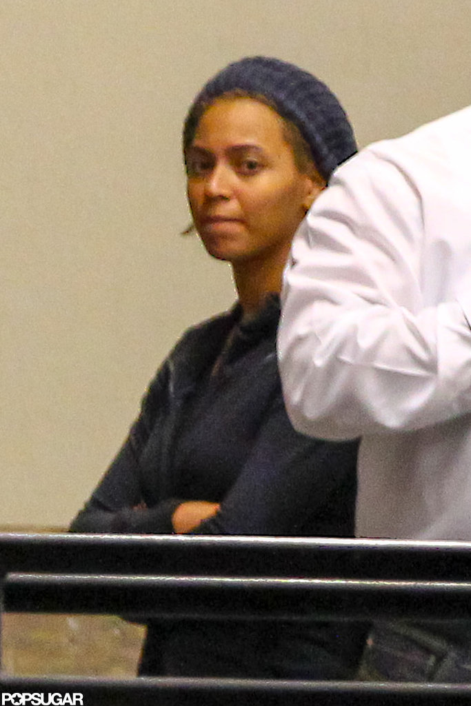 Beyoncé Knowles arrived in New Orleans.