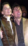 Then-couple Katie Holmes and Tom Cruise were at the Super Bowl to watch J Lo and Marc Anthony's 2007 performance.