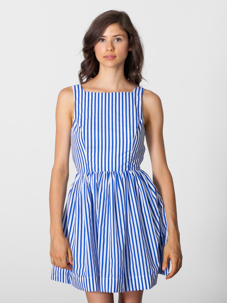 How cute is this American Apparel Striped Sun Dress ($70)? Style it up with a straw hat for a day at the beach.