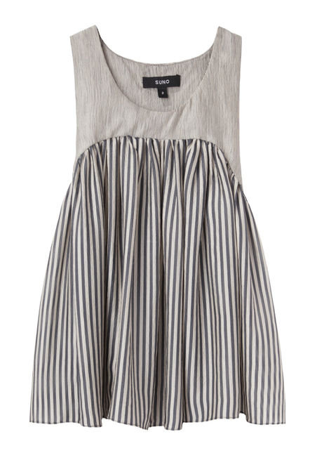 This Suno Yoke Pleated Tank ($495) is a cute, feminine take on the trend.